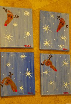 Reindeer Canvases! | Thankfully Thrifty
