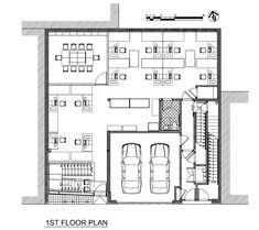 urban office building 1st floor plan