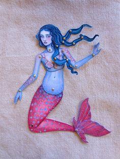Jointed Mermaid Paper Doll Kit