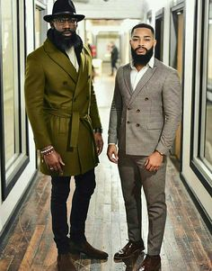 Sharing photos of black men to combat the erasure in the beard movement. Black Men Beards, Handsome Black Men, Sharp Dressed Man, Well Dressed Men, Men In Black, Black Men In Suits, Dapper Men, Raining Men, Gentleman Style