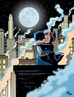 Bruce and Selina commission, as an homage to Jim Lee by Yale Stewart