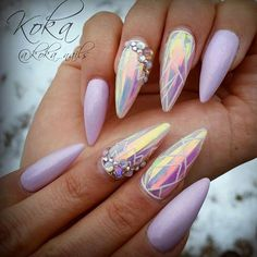"2,234 Likes, 14 Comments - Nail Me Good (@nail_me_good_) on Instagram: "" Lavender and Glass film from @koka_nails.  • • • • FOR A FEATURE  #NAIL_ME_GOOD_  """