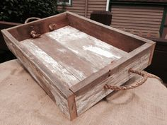 Rustic Wooden Tray Ottoman Tray Serving by WhereTheSycamoreGrow