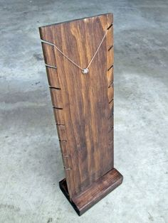 Wooden Necklace Display Stand // Industrial by TheBradfordEdge                                                                                                                                                                                 More