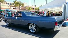 Joe and Patti Donti's gorgeous '69 El Camino (built by Deuces Wild Hotrods & Customs) brightened smiles and stirred hearts at Goodguys Rod & Custom Association Del Mar, this weekend, with its 575HP 503ci big block, RideTech coilovers, and 19-inch Forgeline SO3P wheels finished with Brushed centers and Polished outers. See more at: http://www.forgeline.com/customer_gallery_view.php?cvk=1340  #Forgeline #SO3P #notjustanotherprettywheel #madeinUSA #Chevy #ElCamino