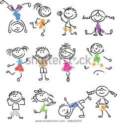 Illustration of Cute happy cartoon doodle kids vector art, clipart and stock vectors. Happy Cartoon, Cartoon Faces, Cartoon Kids, Cartoon Drawings, Cartoon Art, Cartoon Characters, Fictional Characters, Doodle Drawings, Easy Drawings