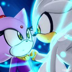 Silver & Blaze ^_^ gaaaaa why are they so adorable