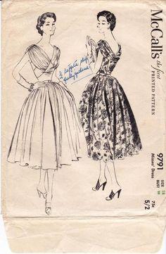 McCall's 9791 ©1953 Dress