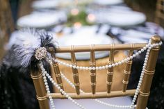 New Years Wedding - Chair Decor Styled by Fete & Frivolity Events