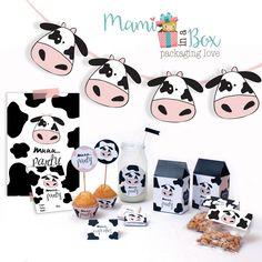 Resultado de imagen para bolsitas para cumpleaños de la granja Cow Birthday Parties, Cowboy Birthday Party, Farm Birthday, Barnyard Party, Farm Party, Cowboy Theme Party, Barn Parties, First Birthdays, Party Themes