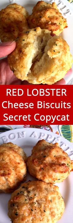 Copycat cheddar bay biscuits recipe. These taste just like Red Lobster cheese biscuits! Super easy to make and so addictive! Easy Biscuits, Easy Biscuit Recipes, Easy To Make Recipes, Easy Food Recipes, Bisquit Recipes, Red Potato Recipes, Easy Food To Make, Recipes Dinner, Homemade Biscuits Recipe