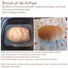Brood uit de Airfryer. 160 graden, 20 minuten. AK