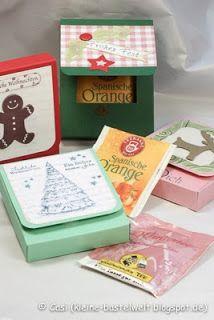 Kerstin's kleine Bastelwelt: Weihnachtsmarkt 2013, teebeutelbox