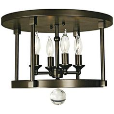 Illuminate your home with this antique-style ceiling light from the Compass lighting collection.