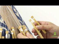 Cómo hacer el medio punto - Encaje de bolillos - YouTube