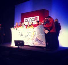 The Kilimanjaro trekkers on stage (UK & ROI Owners Meeting 2013)