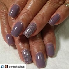 Tammy Taylor miracle manicure with flawless foundation dusty plum accented with starlight starbright gelegance color gel polish and flawless finish.