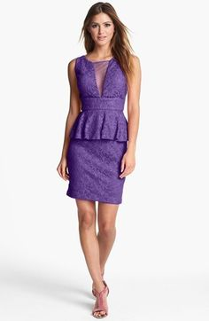 Hailey by Adrianna Papell Lace Peplum...   $118.00