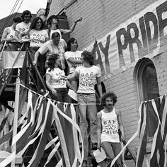 "lgbt-history-archive: "" ""GAY PRIDE,"" Toronto Gay Action members at the start of Toronto's second Gay Pride March, Toronto, Ontario, August 26, 1972. Photo © Jearld Moldenhauer. On August 20, 1971, forty-five years ago today, about a dozen members of..."