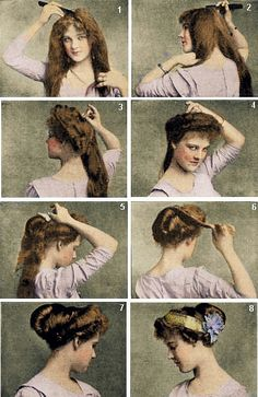 Hair tutorial from a real Edwardian lady. Time to try it and see if it works?