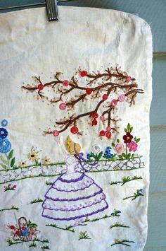 #pillowcase #vintage #embroidery