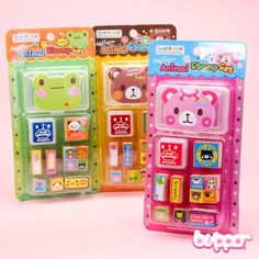 Animal Stamp Set with Mini Note Pad