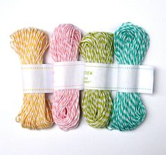 Pastel+Mix+Bakers+Twine++Buttercream+Yellow+by+sweetestelle,+$12.00