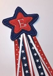 Monogrammed Star Hair Pretties | In the Hoop | Machine Embroidery Designs | SWAKembroidery.com