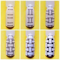 Woven nail design