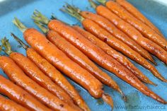 The Busy Baker: Roasted Carrots with Honey Balsamic Glaze
