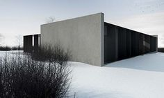 This concrete house is a luxury single family home located in Grudziądz, Poland and designed by Tamizo Architects. The house has gorgeous modern design with a striking dark grey tone Minimal Architecture, Facade Architecture, Residential Architecture, Architecture Interiors, Modern Exterior, Exterior Design, Tamizo Architects, Facade House, House Facades