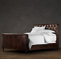 My new bed - woot woot (Chesterfield Leather Panel Bed | Restoration Hardware)