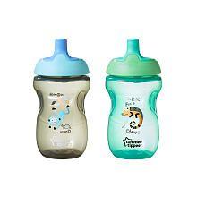 Tommee Tippee 2 Pack 10 Ounce Sportee Bottle - Blue/Green