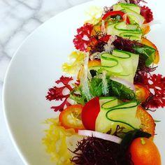 Seaweed salad with organic cucumber, red chile, kumquat, red onion, peach, and sesame oil/garlic/rice vinegar/coconut aminos dressing. #cooking #seaweedsalad #seasnax #seaveggies #cleaneating #gastroart #theartofplating #instafood #foodphotography #foodie #vegan #sushi #salad #organicfood #farmtotable #foodporn #seaweed #paleo #pnw #foodie #cucumber #dinner #glutenfree #dairyfree #foodart #foodartchefs #foodstyling #foodplating