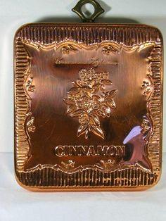 Vintage COPPER Tart MOLD Herb Cinnamon Jello    by LavenderGardenCottage etsy