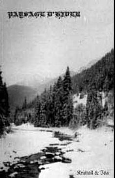 Paysage d'Hiver - Kristall & Isa. Some of the bleakest and coldest music I've ever heard, with equally bleak and cold (and kvlt) album artwork.