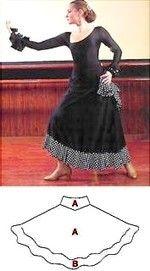 11403009__WinCE_ Flamenco Skirt, Ballet Skirt, Mode Vintage, Dance Outfits, Creations, Vintage Fashion, Patterns, Dance Dresses, Towel
