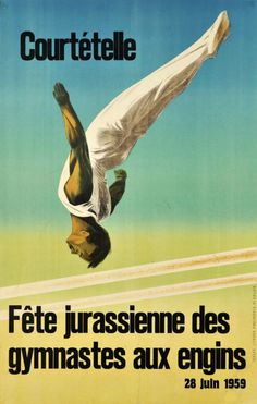 Courtételle, Fête Jurassienne des gymnastes aux engins 1959
