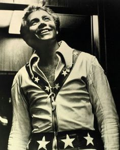 Evel Knievel. STARTED ON A TRIUMPH. CEASARS PALACE........