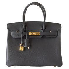 Hermes Birkin 30 Bag PLOMB new colour off black togo gold hardware