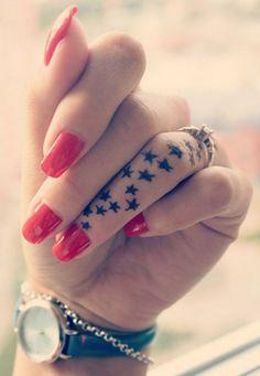Star finger tattoo - 55+ Cute Finger Tattoos
