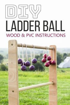 Outdoor games diy ladder toss you can take to the park diy diy games diy ladder ball instructions learn how to make ladder ball from wood solutioingenieria Image collections