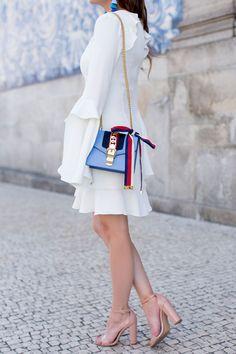 Gucci Blue Mini Sylvie Bag