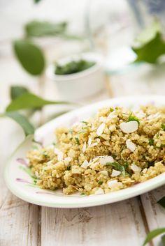 Salada de Quinoa com Amêndoas Torradas