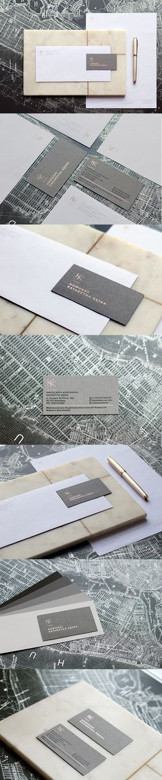 new stuff, branding, logo, identity, graphic design, polish design, marble, map, simple logo, rose gold, print, hotstamping