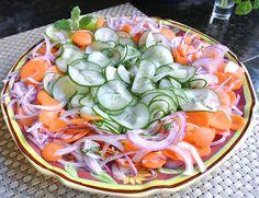 zero calorie cucumber salad, gluten-free, sugar-free, vegan.