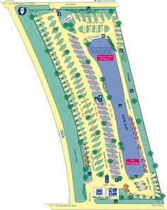 St Augustine Campground Site Map