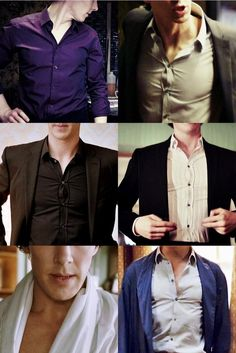 I shouldn't be so excited to see a button up shirt.