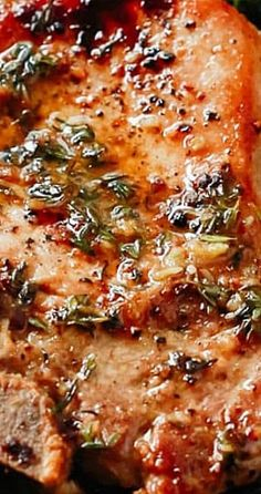 Garlic Butter Baked Pork Chops (Super easy to make!)- Garlic Butter Baked Pork Chops (Super easy to make! Oven Recipes, Pork Recipes, Dinner Recipes, Cooking Recipes, Healthy Recipes, Pork Loin Steak Recipes, Easy Pork Chop Recipes, Crockpot Recipes, Carne Asada