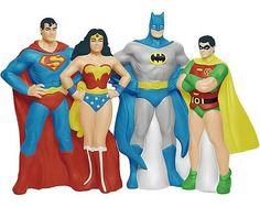 Superman !! Woder Woman!! Batman and Robin